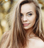 Beautiful girl face - outdoor portrait Stock Image