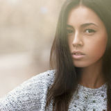 Beautiful girl face - outdoors portrait Stock Photo