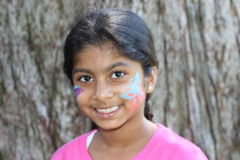 Beautiful girl face painting Royalty Free Stock Images
