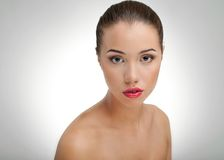 Beautiful Girl face. Perfect skin Stock Images