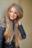Beautiful girl face portrait close up Stock Photos