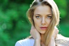 Beautiful girl face portrait Stock Image