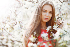 Beautiful girl face portrait close up Stock Photography