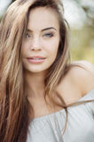Beautiful girl face portrait close up Stock Photo