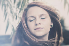 Beautiful girl face Royalty Free Stock Images