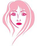 Beautiful girl face royalty free illustration