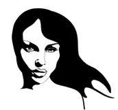 Beautiful girl. Face of a beautiful woman with long hair Stock Photo