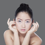 Beautiful girl after facial treatment Stock Photography