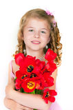 The beautiful girl with a fair hair Royalty Free Stock Images