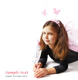 Beautiful girl in a fairy costume Stock Images