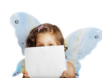 Beautiful girl in a fairy costume with butterfly w Royalty Free Stock Images