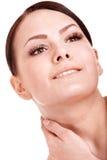 Beautiful girl with false eyelash. Stock Photo