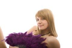 Beautiful girl with fan Stock Photo