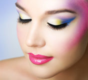 Beautiful girl with fashion bright makeup Royalty Free Stock Images