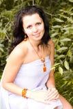 Beautiful girl in the fashion jewelry Stock Photography