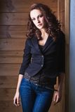 Beautiful girl is in fashion style, glamur Royalty Free Stock Images