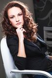 Beautiful girl is in fashion style, glamur. A photo of beautiful girl is in fashion style, glamur Royalty Free Stock Images