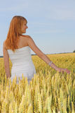 Beautiful girl in the field Stock Photo