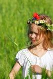 Beautiful girl in field Royalty Free Stock Photos