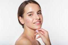 Beautiful girl with flawless skin Royalty Free Stock Image