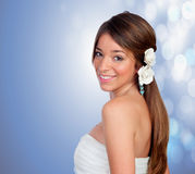Beautiful girl with a flower on the head Stock Photography