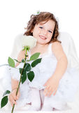 Beautiful girl with flowers Stock Photo