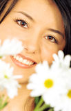 Beautiful girl - flowers portr Royalty Free Stock Photography