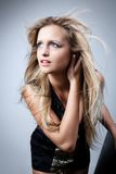 Beautiful girl with flying hair Royalty Free Stock Photo