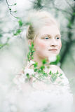 Beautiful girl in the forest Royalty Free Stock Photos