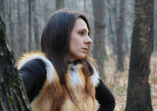 Beautiful girl in the forrest, Moscow Stock Image