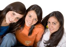 Beautiful girl friends Stock Images
