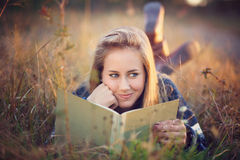 Beautiful girl with funny expression Stock Photos