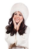 Beautiful Girl in Fur Hat. Royalty Free Stock Image