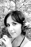 Beautiful girl in garden Stock Photography
