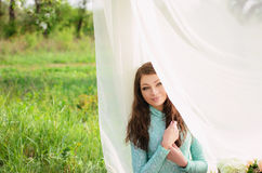 Beautiful girl in the garden Royalty Free Stock Images