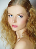 Beautiful girl with a gentle make-up Royalty Free Stock Photo