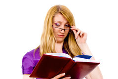 Beautiful girl gets knowledge Stock Photo