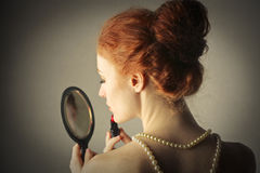 Beautiful Girl Getting Ready Royalty Free Stock Images