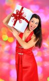 Girl with gifts. Stock Images