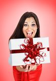 Beautiful girl with gifts Royalty Free Stock Photos