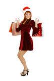 Beautiful girl with a gifts Stock Image