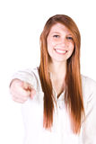 Beautiful Girl Giving the Thumbs Up Stock Photography