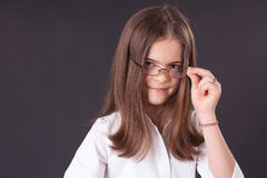 Beautiful girl in glasses Royalty Free Stock Image