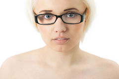 Beautiful girl in glasses. The Beautiful girl in glasses Stock Photography