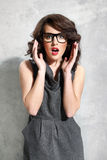 Beautiful girl with glasses Stock Photography