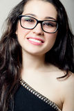 Beautiful girl with glasses smiling Royalty Free Stock Image
