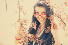 Beautiful girl with glasses Royalty Free Stock Photo