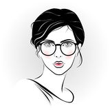 Beautiful girl with glasses Royalty Free Stock Photography
