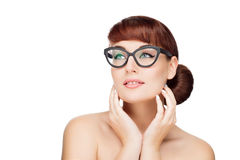 Beautiful girl in glasses Royalty Free Stock Photo