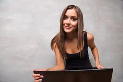 Beautiful girl in a good shape Stock Photography
